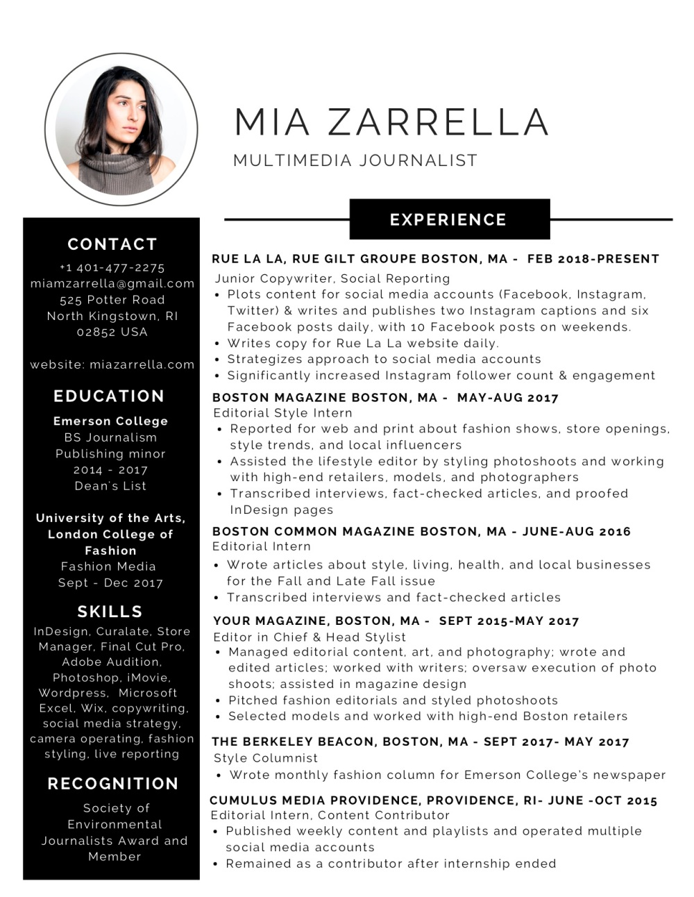 Black and White Modern Resume-2