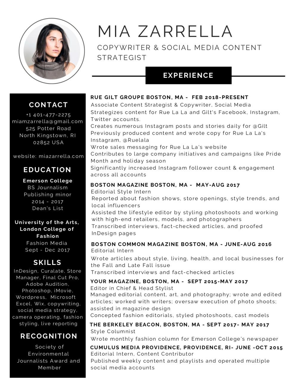 Black and White Modern Resume (1)
